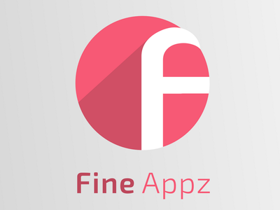 Fine Appz logo logotype design program application icon application color flat shadow sign logo appz
