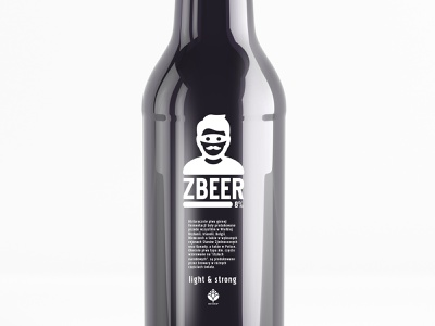 zBEER Mono label alcohol branding bottle design thief mustache man design mono etiquette tag label beer