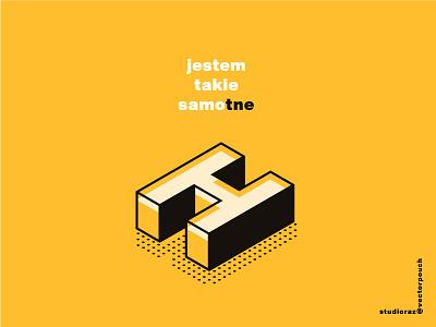 Samo tne Ha display helvetica lettering mix art vectorpouch vector isometric text black yellow letter alone