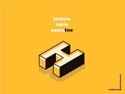 Samo tne Ha display helvetica lettering mix art vectorpouch vector isometric text black yellow letter alone