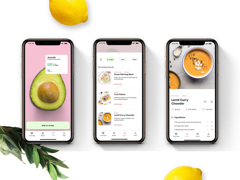 Smart Meal App interactive design typography ui app design ux design