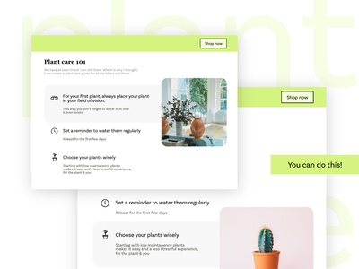 Plant Care 101 ui icon typography web web design design