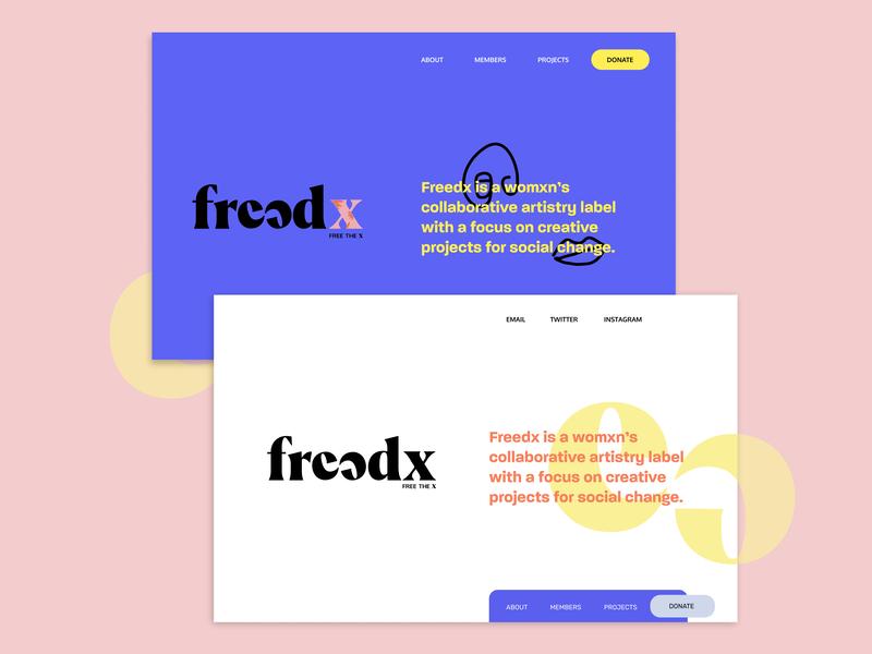 Collaborative artistry label homepage exploration vector ui design icon logo branding typography web design web
