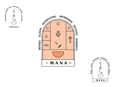 Mana Logo exploration essential oil oils stickers typography line art illustration vector logo branding design