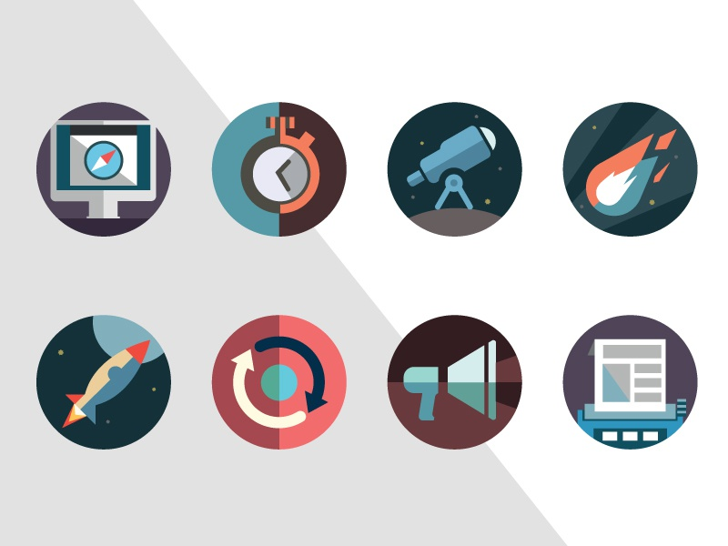 Apps Project Icons icons space apps illustration