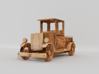 WOODEN CAR - Kids toy