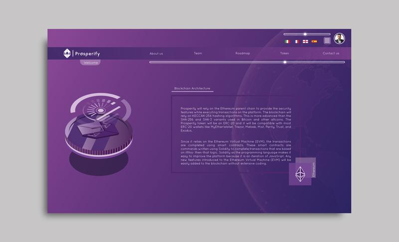 Prosperify project - Web-platform block chain illustrator brand and identity logo webdevelopment webdeisgn uxdesign ux process ui development