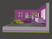 Cartoon Girl Office - 3D - 2