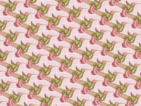 BIRD 3D-2D ILLUSTRATION PATTERN