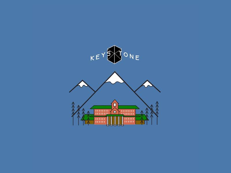 Keystone Resort Illustration branding typography logo design illustration keystone