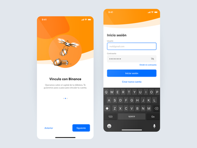 XCapit - Onboarding & Login crypto ios app ux