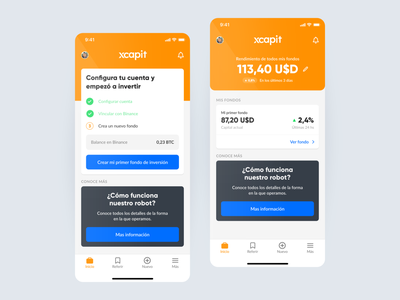 XCapit - Dashboard crypto ios app ux ui