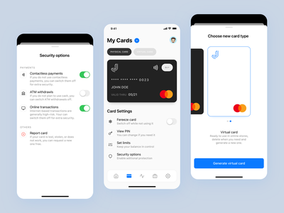 Credit Card App sketch app uxdesign ux uidesign ui app design clean fintech mastercard creditcard credit virtual card virtual apple ios app