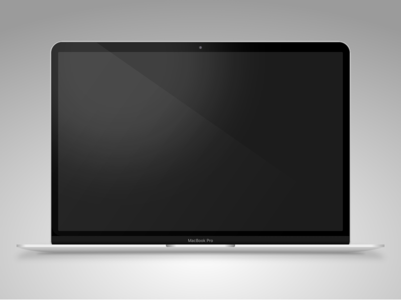 MacBook Pro - Sketch app Mockup