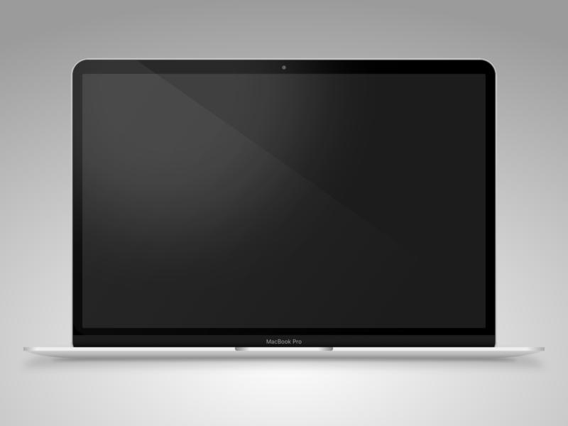 MacBook Pro - Sketch app Mockup illustration icon mock up sketch app macbook