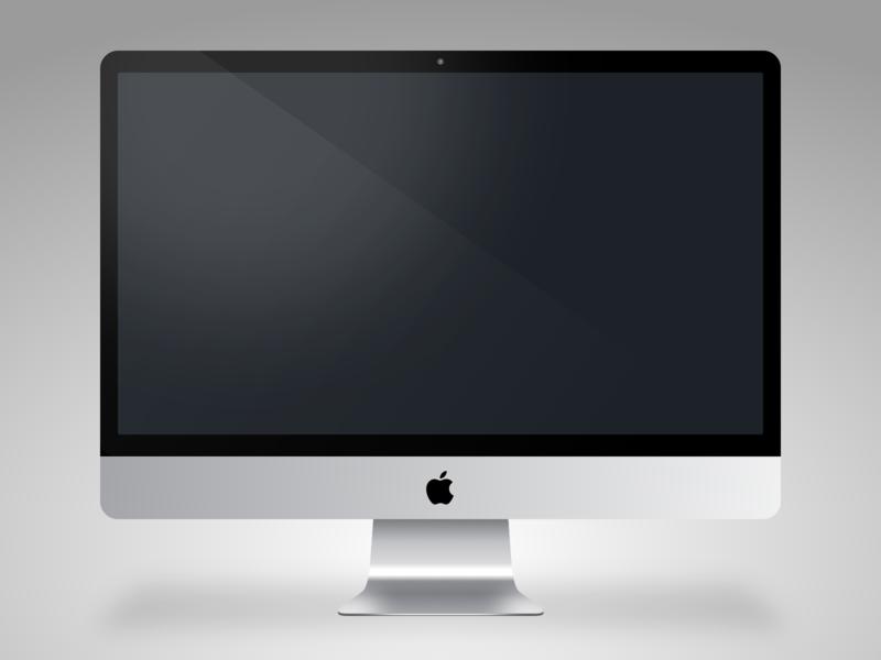 iMac - Sketch app Mockup vector illustration icon mock up sketch app apple imac