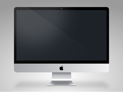 iMac - Sketch app Mockup vector illustration icon mock up sketch app apple imac