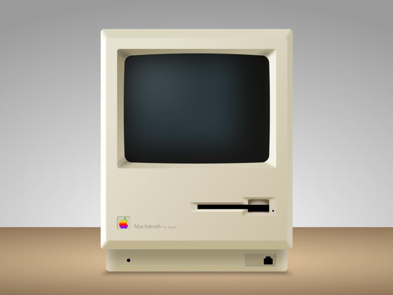Macintosh 1 - Sketch app Mockup sketch app mockup vector icon vintage retro apple macintosh