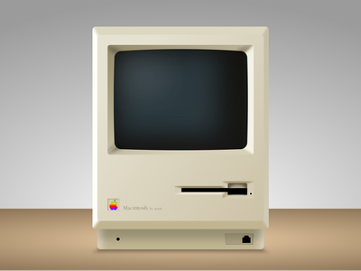 Macintosh 1 - Sketch app Mockup sketch app mockup vector icon vintage retro apple macintosh