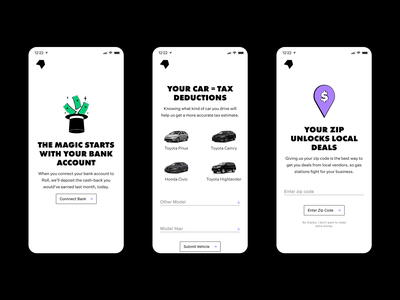 Roll, for rideshare drivers. website design app design app ios design branding product design