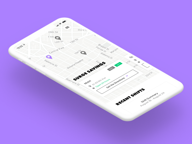 Roll – Banking built for rideshare drivers figma product design
