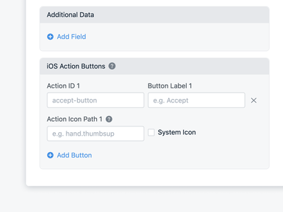 New Action Button Icon Settings to Support iOS 15 onesignal ios15 ios mobile settings icon button action messaging message notification push