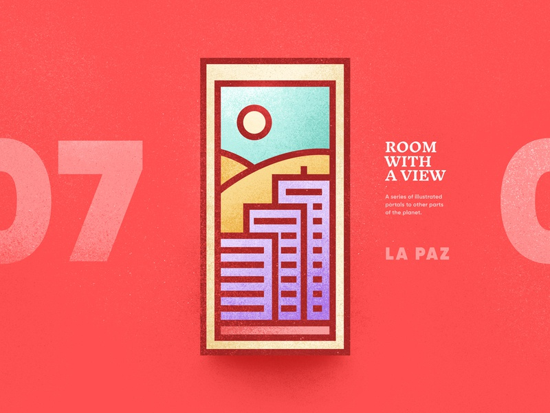Room With A View – 07 scenic portal illustration place 2d vector texture sun window landscape view room country peru la paz