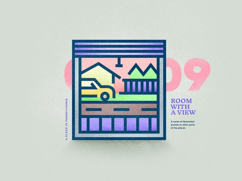 Room With A View – 09 landscape street place view window portal illustration texture vector 2d