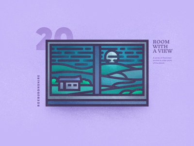 The Final Room With A View – 20 brutalism flat hills moon skyline landscape scenic texture linear window portal view room vector 2d