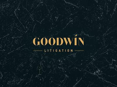 Goodwin Litigation Logo Design vector marble logotype gold design logo