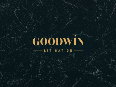 Goodwin Litigation Logo Design vector marble logotype gold design logo