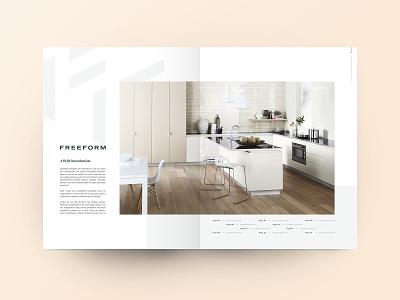 DPS - Freeform Laminates editorial title kitchen interior grid page spread dps brochure layout design