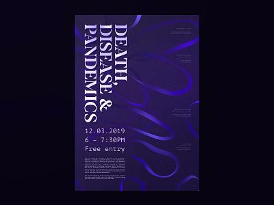 Death, Disease & Pandemics grid layout typographic typographic poster typogaphy poster art poster design print vector layout poster