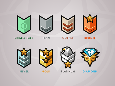 SCL Rank Badges