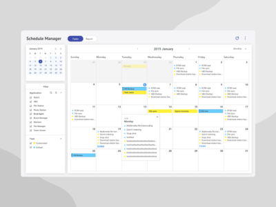 Dashboard | Calendar UI - Monthly View