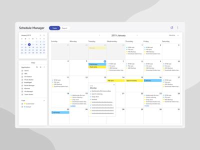 Dashboard | Calendar UI - Monthly View