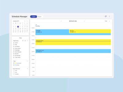 Dashboard   Calendar UI - Daily View
