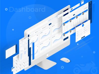 Sales CRM Admin Dashboard UI design software ui desktop app software app creative design ui design creative dashboard dashboard ui crm dashboard admin bike sales