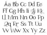 Marywood Font Test