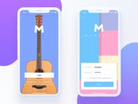 Music app login