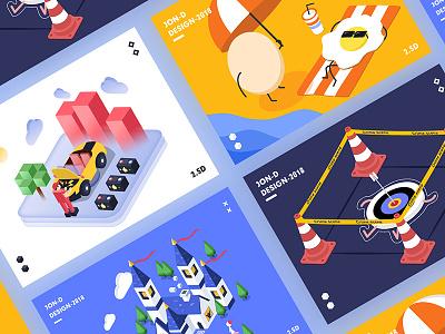 2.5D illustrations 01 china isometric jon jondesigner 2.5d illustrations colourful
