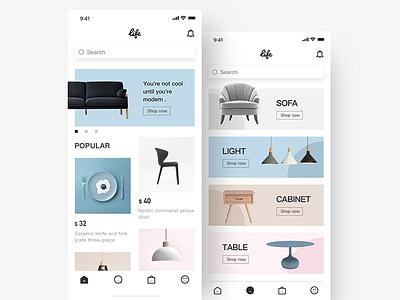 Furniture E Commerce App china ui hiwow jondesigner jon furniture e commerce app