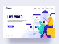Live video illustration