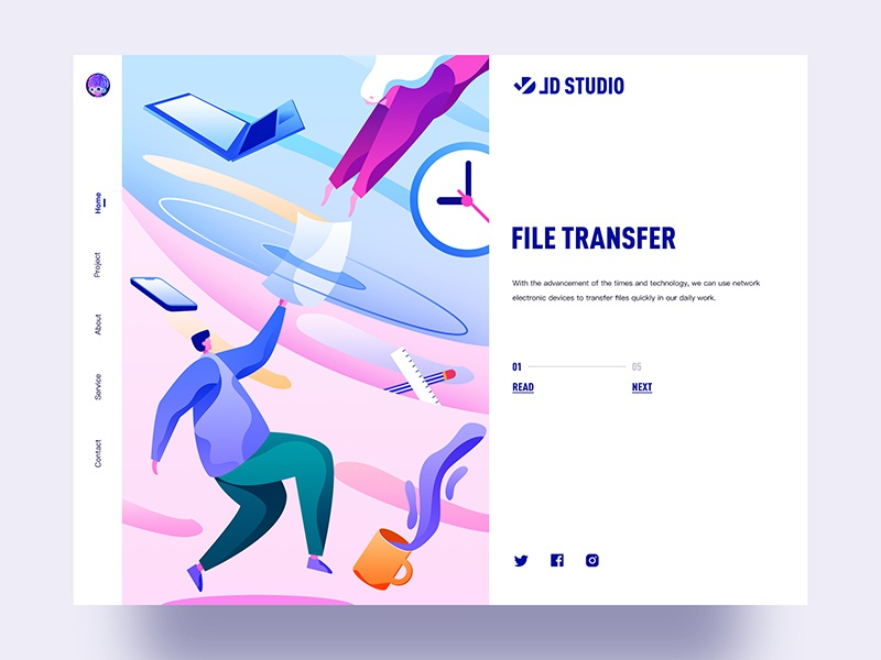 File transfer typography colorful ux china ui jondesigner illustration jon file transfer