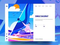 Single sailboat