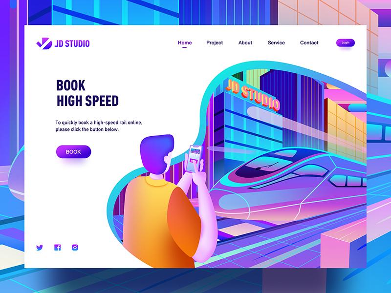 High speed subway technology illustrations fashion colorful web ux illustration jon jondesigner ui china high speed subway
