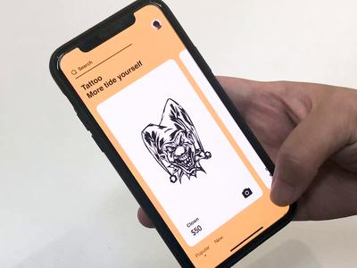 Tattoos at a Glance animation app ux ui jon