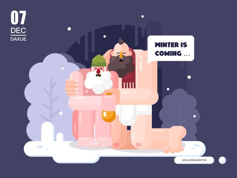 winter is coming man winter illustraor design illustration