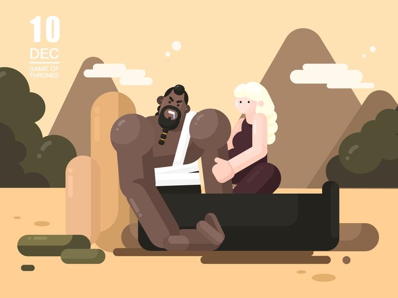 Khal Drogo illustator game of thrones design illustration