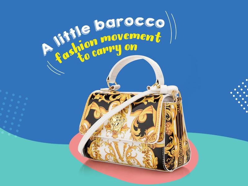 Les petits Black Barocco Print Sling Bag